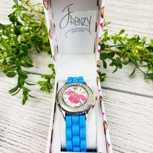 NEW Frenzy NY Kids' Blue Rubber Band Dog Watch